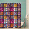 Bohemian Square Hip Hop Print Polyester Waterproof Shower Curtain - ROSE RED