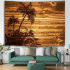 Coconut Tree Tropical Style Printed Tapestry - LIGHT BROWN