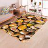 Smooth Stone Pattern Stylish Casual Carpet - CINNAMON
