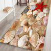 Red Starfish Scallop Leisure Style Home Decor Carpet - CAMEL BROWN