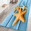 Blue Wooden Board Starfish Leisure Style Home Decor Carpet - CRYSTAL BLUE