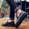 Men's Leather Shoes Hand Stitching Fashion - BLACK