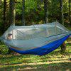 Ultra Light Nylon Outdoor Parachute Cloth Hammock with Mosquito Net - GREEN