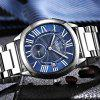 2019A Men Quartz Waterproof Watch Business Casual Steel With Small Three Needle - MULTI-C