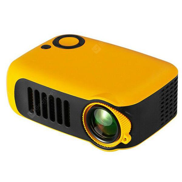 A2000 2 inch Gift Children's Toy Projector EU Plug - Mango Orange