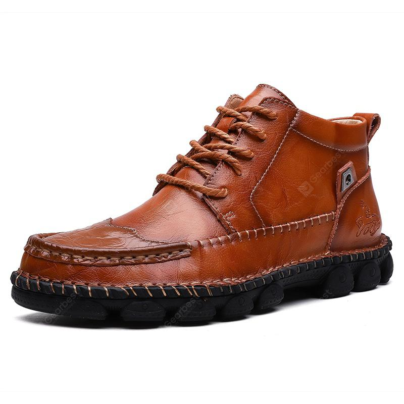 AILADUN Men's Shoes Outdoor Casual Martin Boots Leather