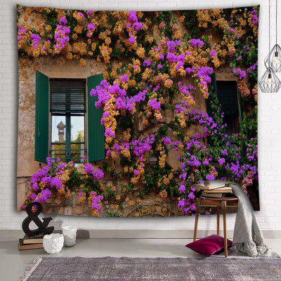 Mud Wall Flowers Country Printed Polyester Sanded Tapestry