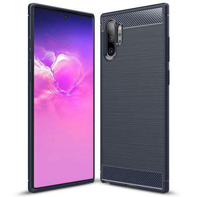 Naxtop Carbon Fiber Soft Back Cover Full Protective Phone Case for Samsung Galaxy Note10+ / Note 10 Pro / A2 Core