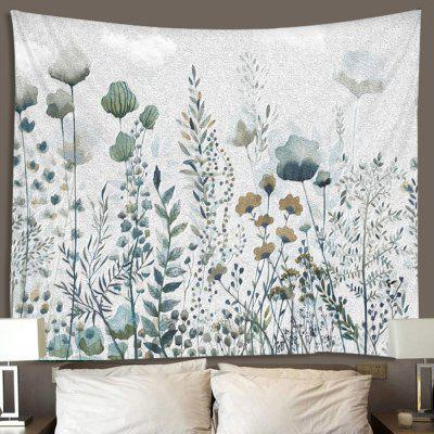 Watercolor Flower Plant Leaf Printed Polyester Sanding Tapestry