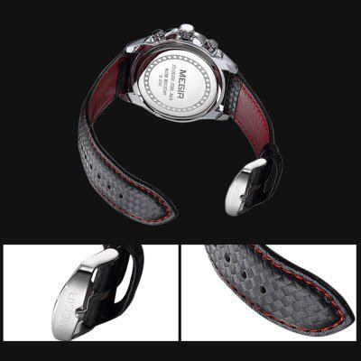 For Under $20, MEGIR 1010G With Leather Strap Is Probably the Coolest Sports Watch That You Can Get! You Shouldn't Miss it for Christmas!
