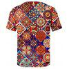 Pánské tričko Creative 3D Color Stitching Print Short Sleeve - MULTI-B