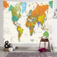 Gearbest World Map English Print Polyester Sanded Tapestry