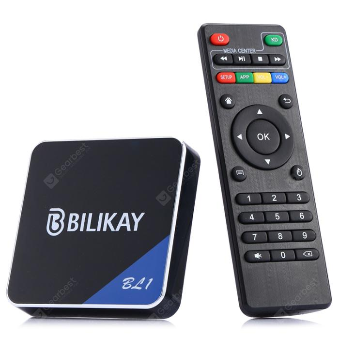 Bilikay BL1 S905W Android 9.0 Smart TV Box Home Cinema - Black EU Plug