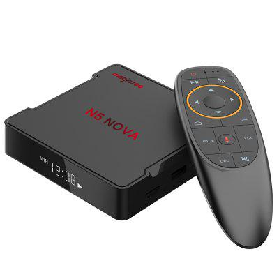 Magicsee N5 NOVA 4GB RAM 64GB ROM 4K TV Box Android 9.0 2.4G głosowe Zdalne z Air Mouse