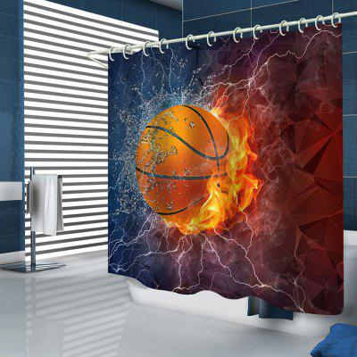 Creatief basketbal abstract print douchegordijn