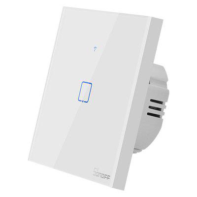 SONOFF T0UK EU Plug WiFi Touch Panel Switch App Telecomanda funcționează cu Amazon Alexa Google Assistant