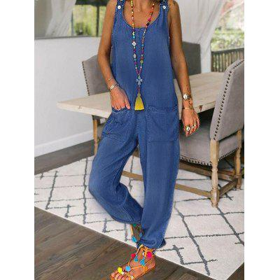 Women's Jumpsuit Solid Color Casual Loose Large Size