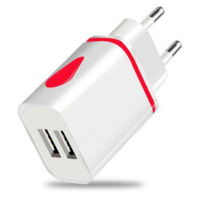 2 USB Port LED Light Charging Charger