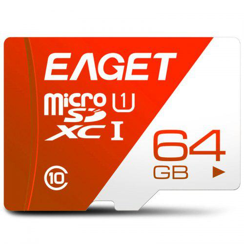 EAGET T1 High Speed UHS - I Flash TF Memory Card - Red 64GB