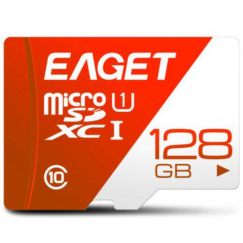 Gearbest EAGET T1 High Speed ​​UHS - I Flash TF Memory Card - Red 128GB Compatible with All Types of Micro SD / TF Devices