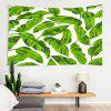 Oversized Leaf Print Polyester Tapestry Living Room Foyer Bedroom Universal - MULTI-A