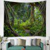 Deep Forest Country Style Print Pattern Tapestry - MEDIUM SEA GREEN