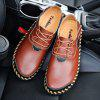 AILADUN Men's Shoes Breathable Hand Stitching Casual Large Size - BROWN