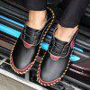 AILADUN Men's Shoes Breathable Hand Stitching Casual Large Size - BLACK