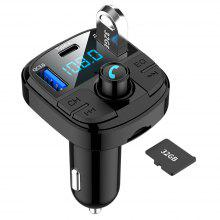 Gearbest BT29 MP3 Player Hands-free Bluetooth 5.0 FM Transmitter Car Charger