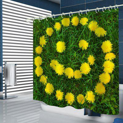 Cute Smile Face Pattern Print Shower Curtain