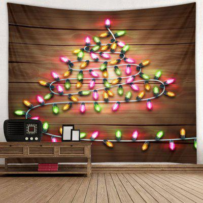 Small Lights Wooden Pattern Printed Tapestry