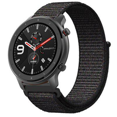 TAMISTER Nylon Canvas Replacement Strap for Amazfit GTR 47MM