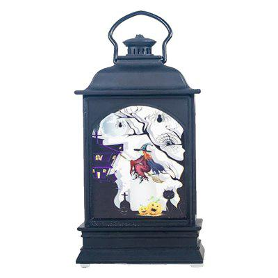 Halloween Subject LED Decorativa Trasparente Candela Lampada da Vento