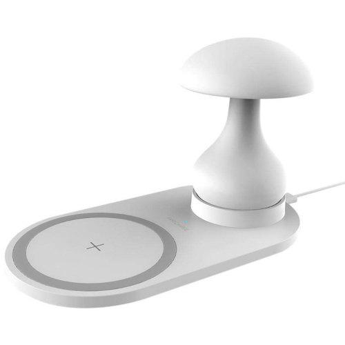 Multi-function 10W Fast Charge Wireless Charger Mushroom Table Lamp