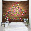 Small Lights Wooden Pattern Printed Tapestry - CARAMEL