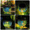 Solar Glass Table Mosaic Lamp Waterproof Night Light for Home / Garden / Courtyard Decoration - MULTI-A