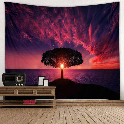 Red Clouds Stunning Landscape Pattern Print Tapestry