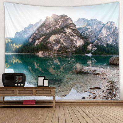 Leisure Pastoral Landscape Stone Wall Pattern Print Tapestry