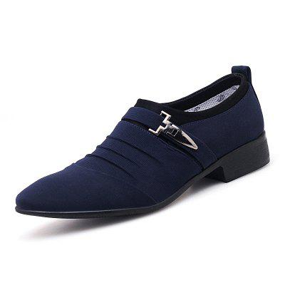AILADUN Men's Large Size Shoes Breathable Business Casual Canvas
