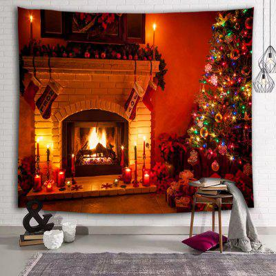 Christmas Tree Gift Stove Decoration Printing Polyester Tapestry