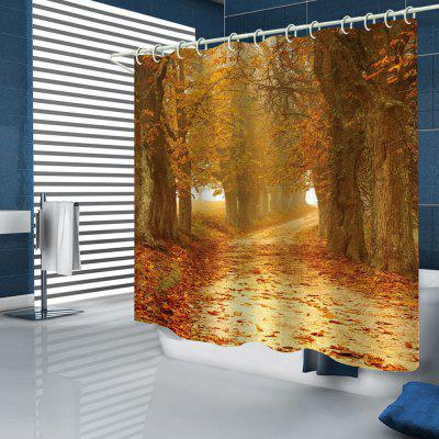 Dreamy Maple Leaf Romantic Print Shower Curtain