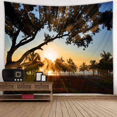 Upright Big Tree Landscape Print Tapestry
