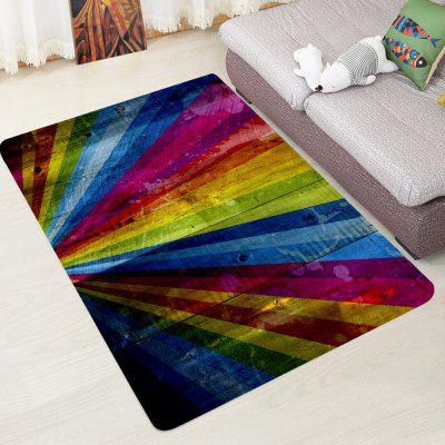 Fashion Colorful Rainbow Pattern Carpet