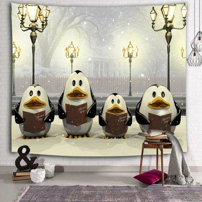Cartoon Penguin Cute Cute Light Light Winter Tapestry