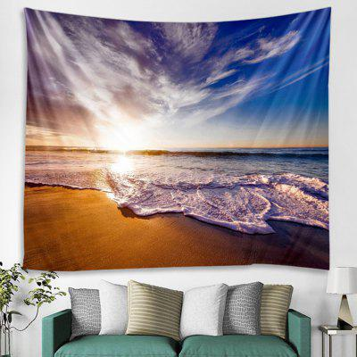 Beautiful Water Sky in Line Landscape Pattern Printed Tapestry