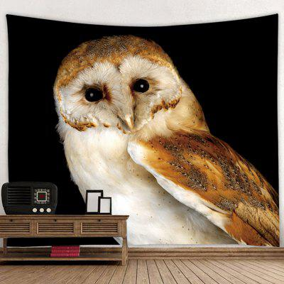 Owl Pattern Digital Print Tapestry Living Room Decor