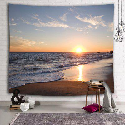 Beach Wave Sunrise Sunset Print Polyester Tapestry
