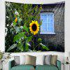 Sunflower Printed Tapestry - SEAWEED GREEN