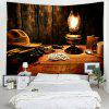 Retro Desktop Printed Tapestry for Decoration - CHARCOAL