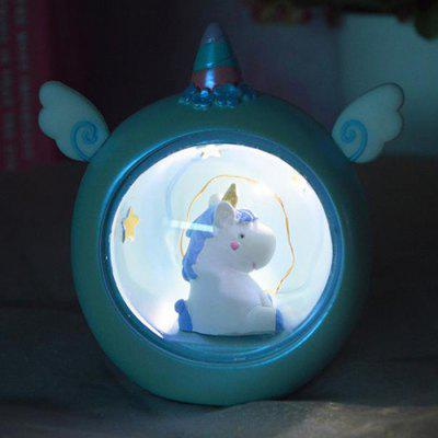 Unicorn Stars Night Light Small Table Lamp Student Gift